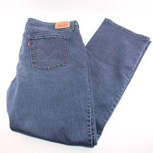 Levis 505 Straight Leg Dark Wash Plus sz 14 Jeans